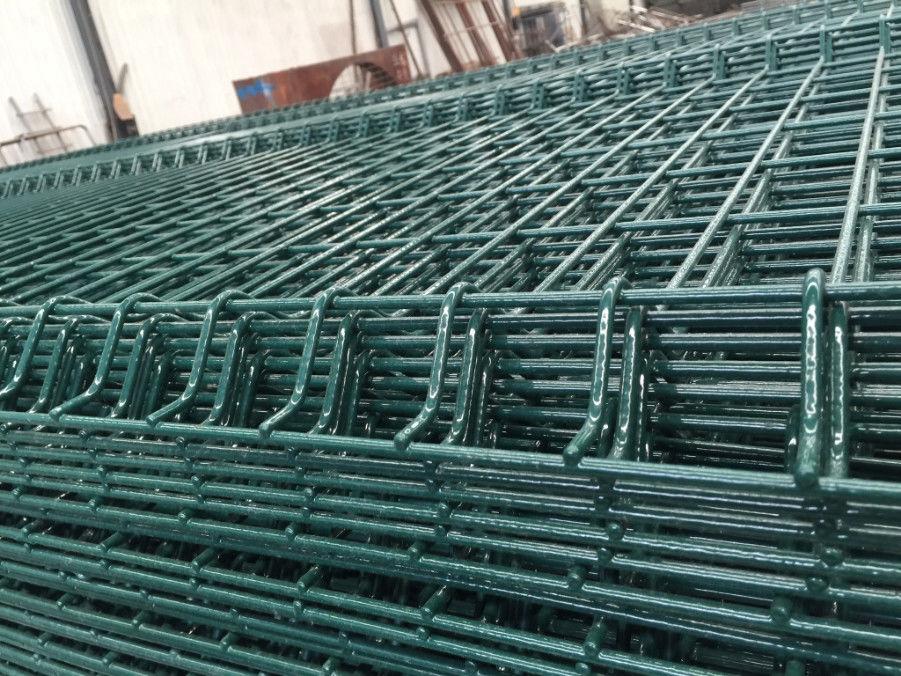 Grünes PVC schweißte Draht-Stahlmasche/das schweres Messgerät ...