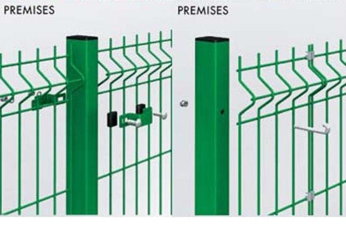 Kundengebundene geschweißte fechtende Maschen-Sicherheit, grünes PVC ...